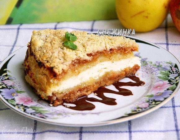 Творожно-яблочный пирог «Слоеный»