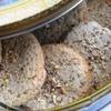 Овсяное печенье с коньяком, медом и орешками