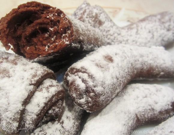 """Шоколадное печенье """"Дровишки под снегом"""""""