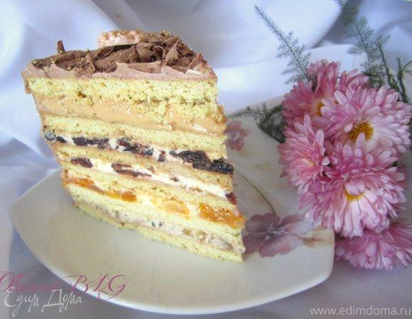 """Торт """"Песочный с разными начинками"""""""