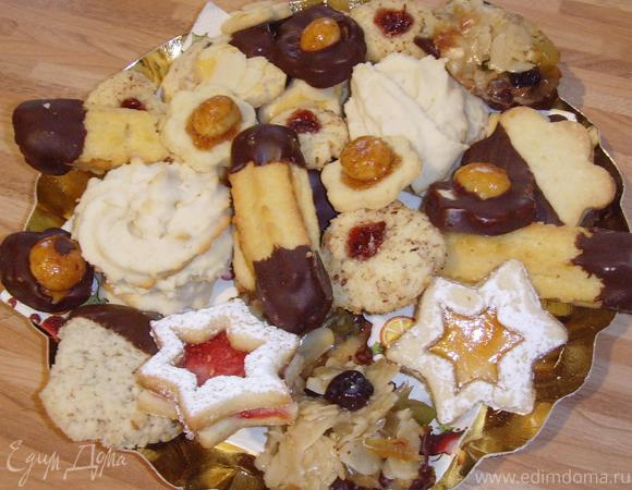 """Рождественское печенье """"Шоко-макадамия"""""""