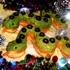 Слоеные змейки с сырным брюшком