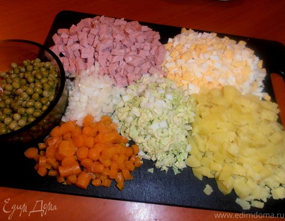 Хлебные ложки, они же - тарталетки с салатом