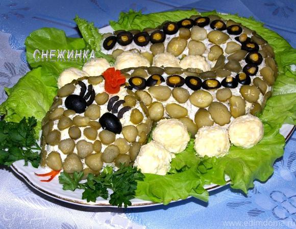 Салат «Змейка на берегу»