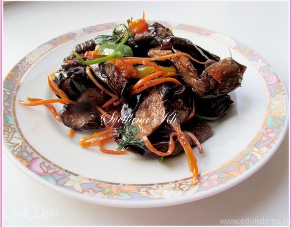 Салат мясо и перец