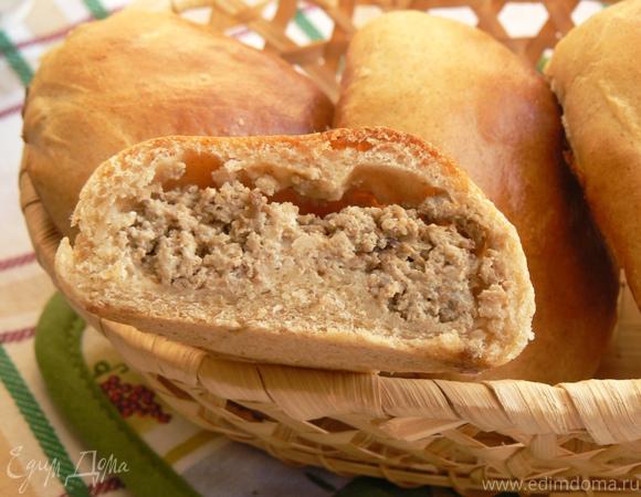 пирожки из ц/з муки с фаршем и творожным сыром