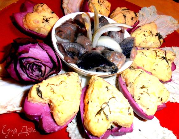 Сердечная закуска из сельди