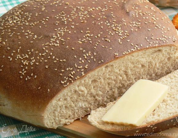 цельнозерновой пшеничный хлеб на опаре