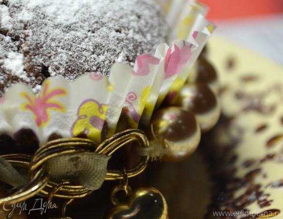 Шоколадные кексы с начинкой из белого шоколада