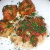Рыбные тефтели в томатном соусе с рисом