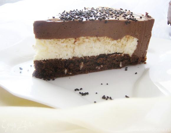 """Торт-мусс """"Кокос в шоколаде"""""""