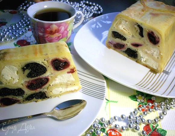 """Блинный пирог с тремя начинками """"Вышиванка"""""""