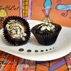 Самые шоколадные маффины с глазурью два шоколада