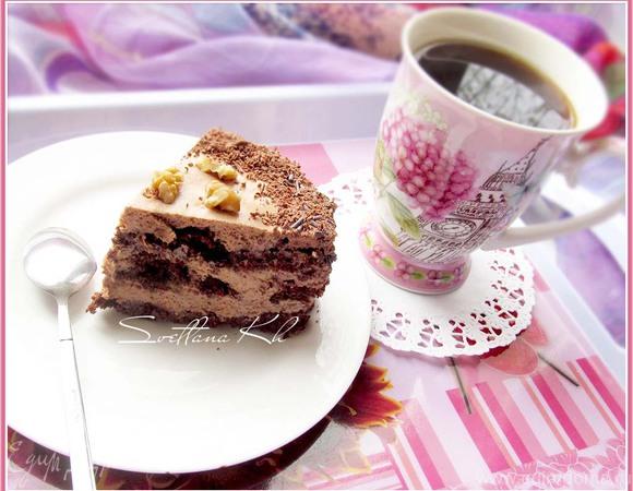 """Торт """"Шоколадно-фруктовая фантазия"""""""