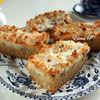 Пирожные с ревенем и кокосом