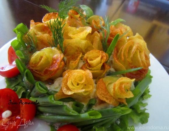 """Салат """"Оригинальный"""" с розами"""