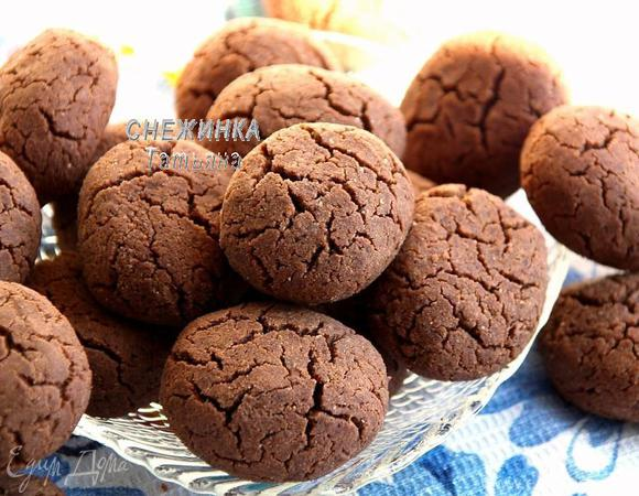 Шоколадное печенье на гречневой муке
