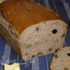 Французский хлеб на красном вине, с орехами и изюмом