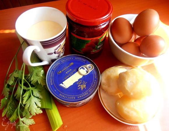 """Норвежский борщ с Балтийской килечкой для Шпротика и Юли (""""Холодные супы"""")"""