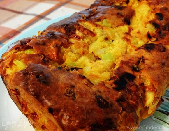 """Мегаовощной ароматный хлеб с сыром (""""Новый урожай"""")"""