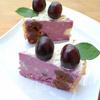 Торт со смородиново-сливочным кремом, черешней, шоколадными шариками и карамелизированным миндалем
