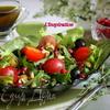 Салат с виноградом, черри и грецкими орехами