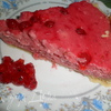 Пирог с муссом из красной смородины