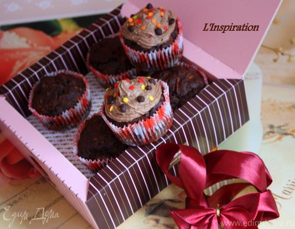 Шоколадные кексы с сюрпризом