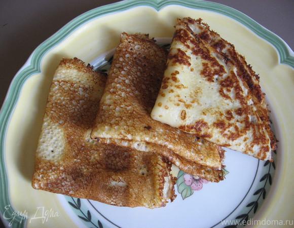 Мягкие и тонкие блинчики на молоке