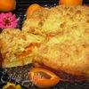Обсыпной абрикосовый пирог с творожно-миндальной начинкой