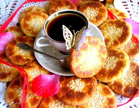 Цветочное печенье с календулой
