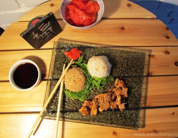 """Лосось с рисом """"Гохан"""" (""""Неделя японской кухни"""")"""