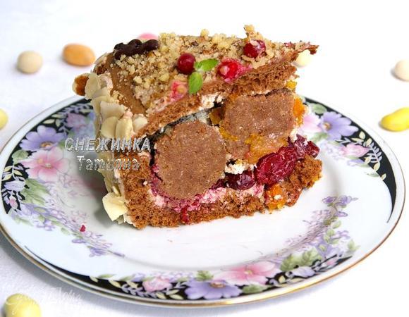 """Торт «Именная шкатулка» (""""Юлия, с днем рождения!"""")"""