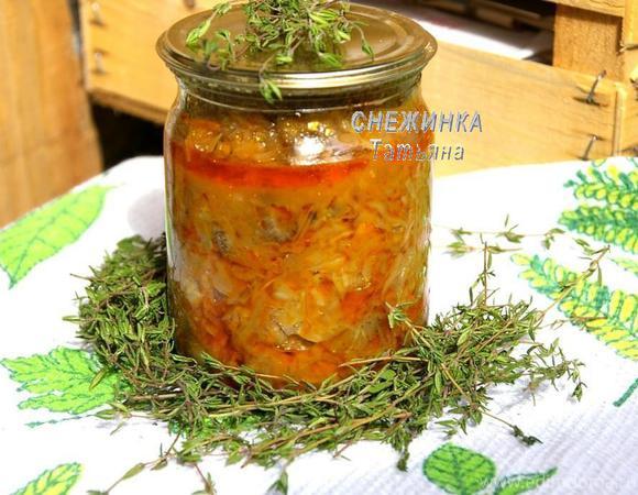 Домашние заготовки: «Солянка овощная с грибами»