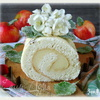 Бисквитный рулет с яблочным парфе