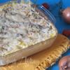 Рыба, запеченная с кукурузной крупой и сыром Джюгас