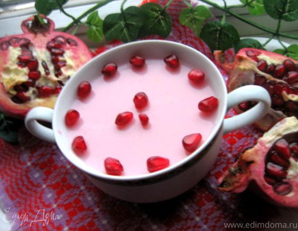 Гранатовая панна котта на йогурте