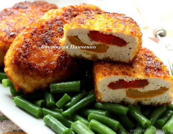 Куриные зразы с болгарским перцем