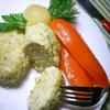 Паровые куриные котлетки с овощами и овсянкой