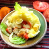 Рыбка, запеченная под соусом Бешамель и картофелем