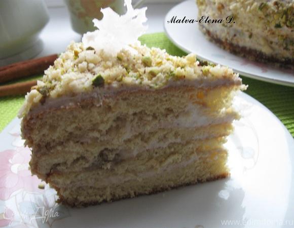 """Торт бисквитный со сливочно-фруктовым кремом """"Хрустальная донна"""""""