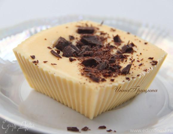 Мусс из клементинов в шоколадном стаканчике