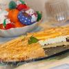 Апельсиново-коричный творожный пирог с горьким шоколадом