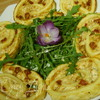 Рулет-суфле с пармезаном и вялеными томатами