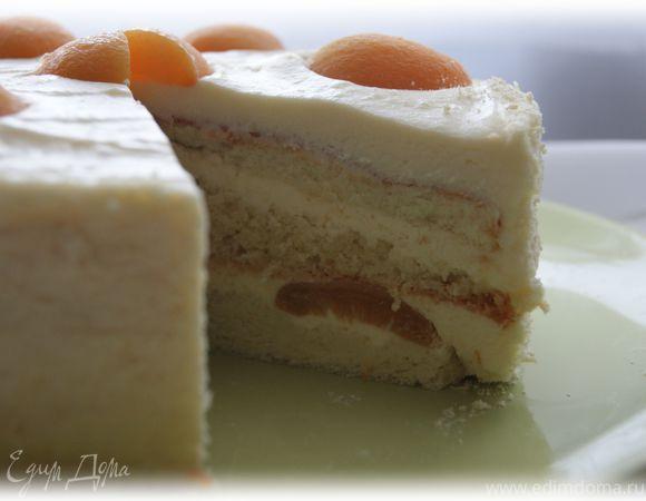 Абрикосовый торт для мамы