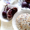 Шоколадные пирожные с фруктами