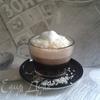 Малиновый кофе с кокосовой стружкой