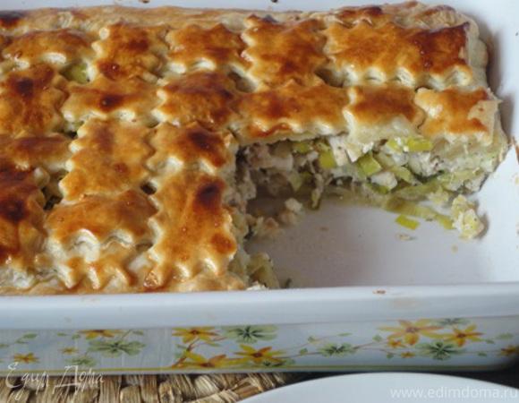 Котопита (греческий пирог с курицей и сыром)