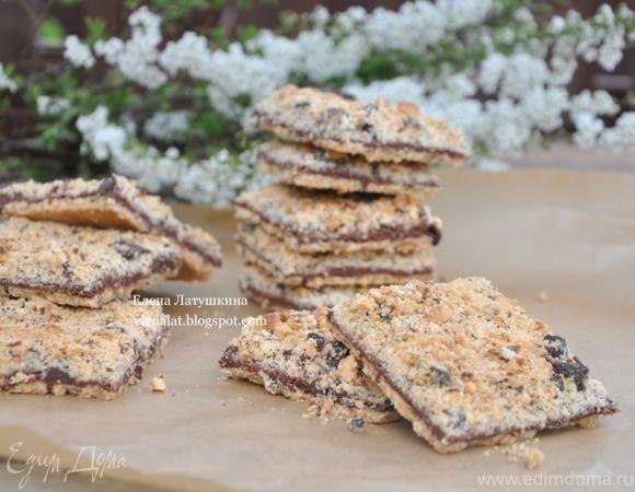 Печенье с шоколадом и орехами