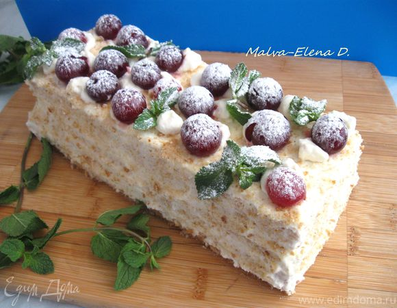 Летний торт «Нежное вишневое облачко»